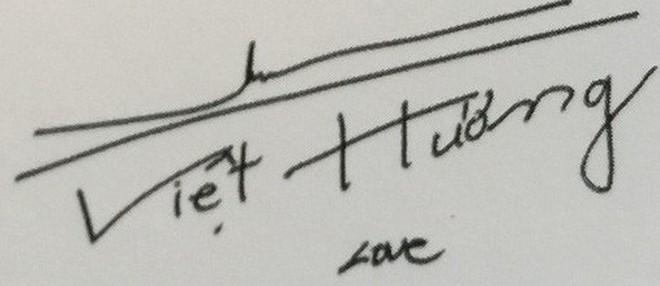 """Chữ ký của sao Việt: Người """"rồng bay phượng múa"""", kẻ đơn giản bất ngờ - Ảnh 8."""