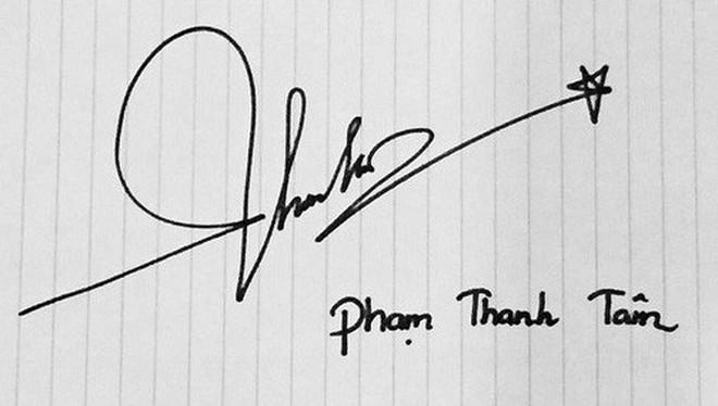 """Chữ ký của sao Việt: Người """"rồng bay phượng múa"""", kẻ đơn giản bất ngờ - Ảnh 13."""