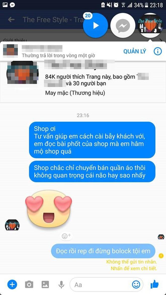"""Cô gái căng thẳng không dám đi học vì mới inbox hỏi tư vấn mua áo online đã bị chủ shop tố """"chuyên lừa đảo và bùng hàng ở TP. HCM"""" - Ảnh 5."""