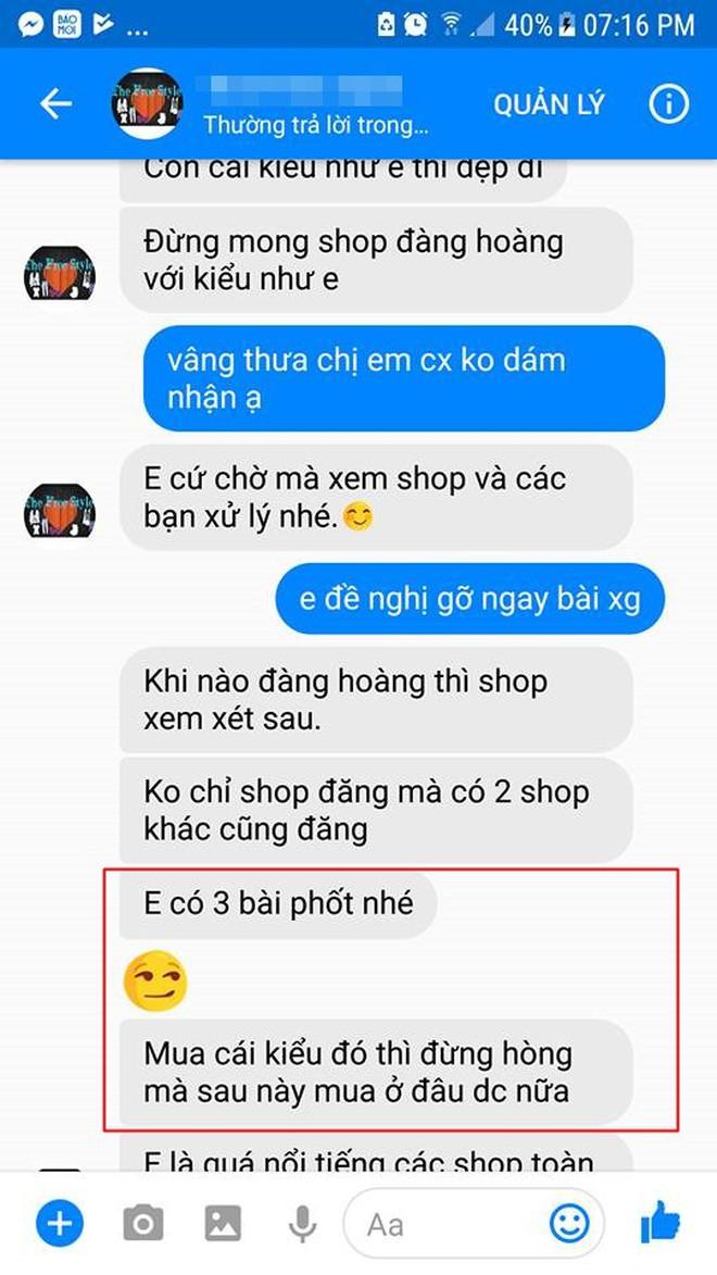 """Cô gái căng thẳng không dám đi học vì mới inbox hỏi tư vấn mua áo online đã bị chủ shop tố """"chuyên lừa đảo và bùng hàng ở TP. HCM"""" - Ảnh 2."""