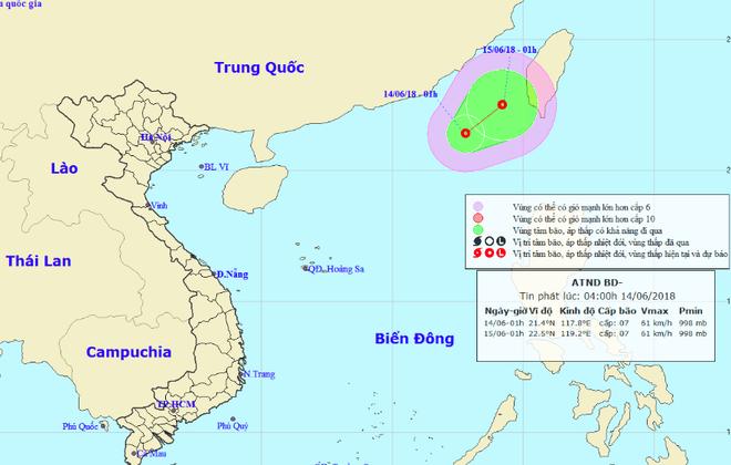 Xuất hiện áp thấp nhiệt đới mới trên biển Đông - Ảnh 1.