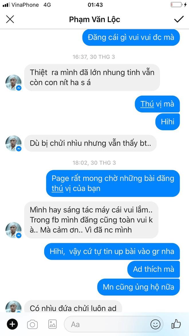 Chat thôi mà Lộc cũng thể hiện mình là người rất dễ thương, mong được cộng đồng đón nhận.