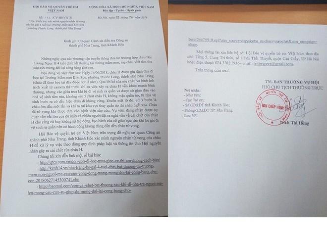 Vụ bé gái 4 tuổi chết bất ở trường mầm: Hội Bảo vệ Quyền trẻ em Việt Nam lên tiếng - Ảnh 1.