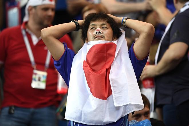Ngưỡng mộ hình ảnh CĐV Nhật Bản vừa khóc nức nở, vừa dọn sạch rác trên khán đài - Ảnh 1.