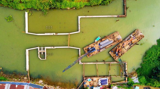 """Chùm ảnh: Toàn cảnh sự """"bất động"""" của loạt công trình chống ngập ở Sài Gòn vì... thiếu vốn, không còn bóng công nhân - Ảnh 9."""