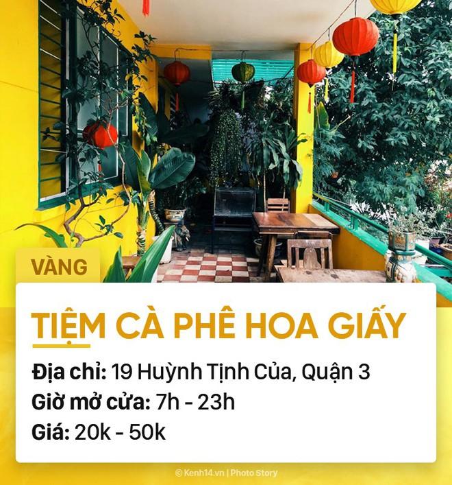 Chọn quán cà phê theo màu, Sài Gòn có cả list xanh hồng vàng trắng... dành cho bạn - Ảnh 14.