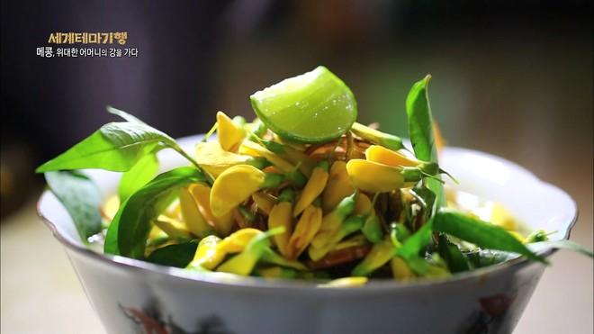 Món bún ở An Giang lên sóng truyền hình Hàn Quốc nhưng điều khiến nhiều người chú ý lại là loại hoa ăn kèm - Ảnh 1.