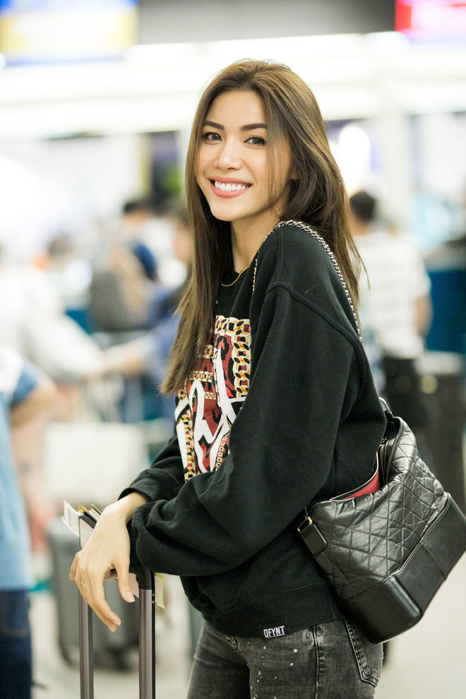 Minh Tú diện style khoẻ khoắn, cùng dàn thí sinh Miss Supranational Vietnam 2018 sang Hàn chuẩn bị đêm chung kết - Ảnh 1.