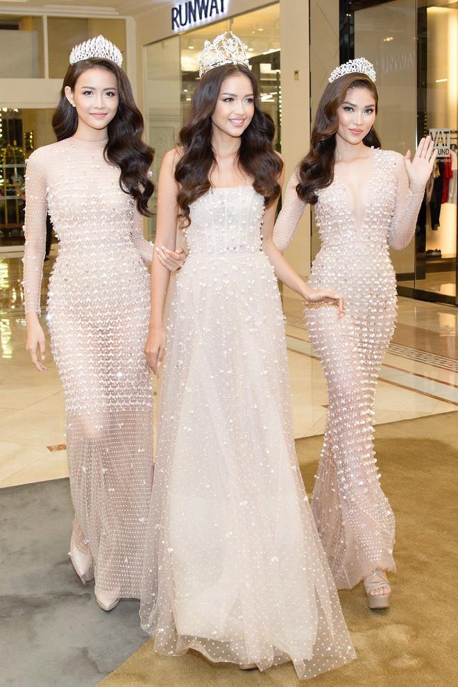 Top 3 Miss Supranational Vietnam cùng đội vương miện, lần đầu xuất hiện nổi bật giữa sự kiện - Ảnh 2.