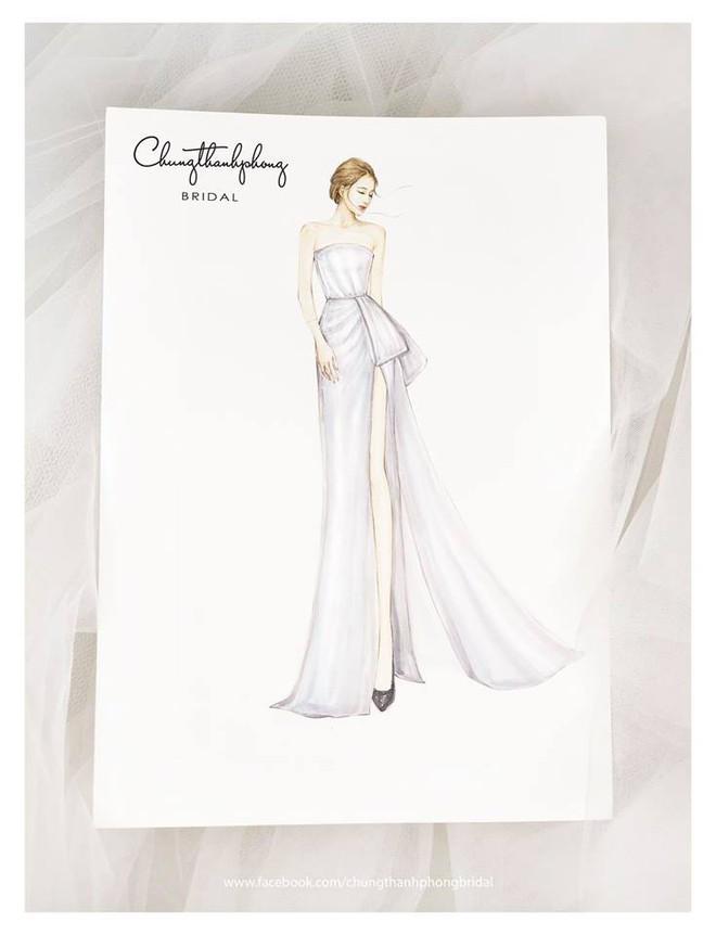 Mẫu váy cưới sắp tới của Nhã Phương tiếp tục được hé lộ, sẽ ôm sát eo và xẻ cao ngút ngàn - Ảnh 2.