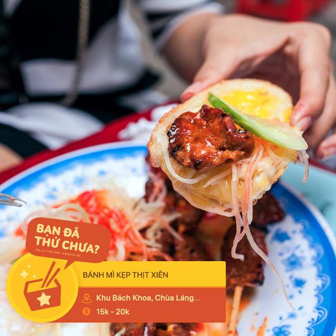 Tưởng là món ăn vui miệng, ai ngờ đâu thịt xiên lại nghiễm nhiên trở thành topping trong loạt món ngon xuất chúng ở Hà Nội - Ảnh 2.