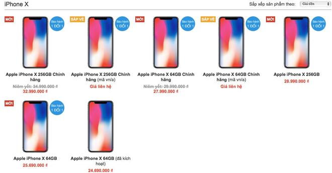 iPhone X chính hãng chênh nhau hơn 3 triệu đồng - Ảnh 2.
