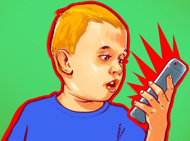 Trẻ dùng điện thoại thông minh