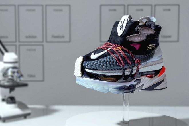Mẫu giày được chắp vá nghệ thuật từ 9 đôi sneakers đình đám nhất năm 2018 - Ảnh 1.