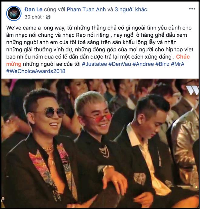Nghệ sĩ Việt bày tỏ cảm xúc sau đêm Gala WeChoice Awards 2018: Vỡ oà xúc động, hạnh phúc vì những câu chuyện đầy ý nghĩa! - Ảnh 9.