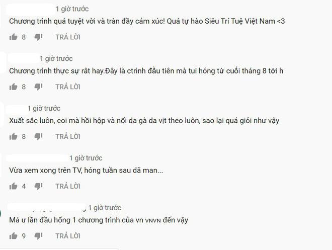 Cư dân mạng sau khi xem tập mở màn Siêu trí tuệ Việt Nam: Ngưỡng mộ, nổi da gà, tự hào và xúc động! - Ảnh 5.