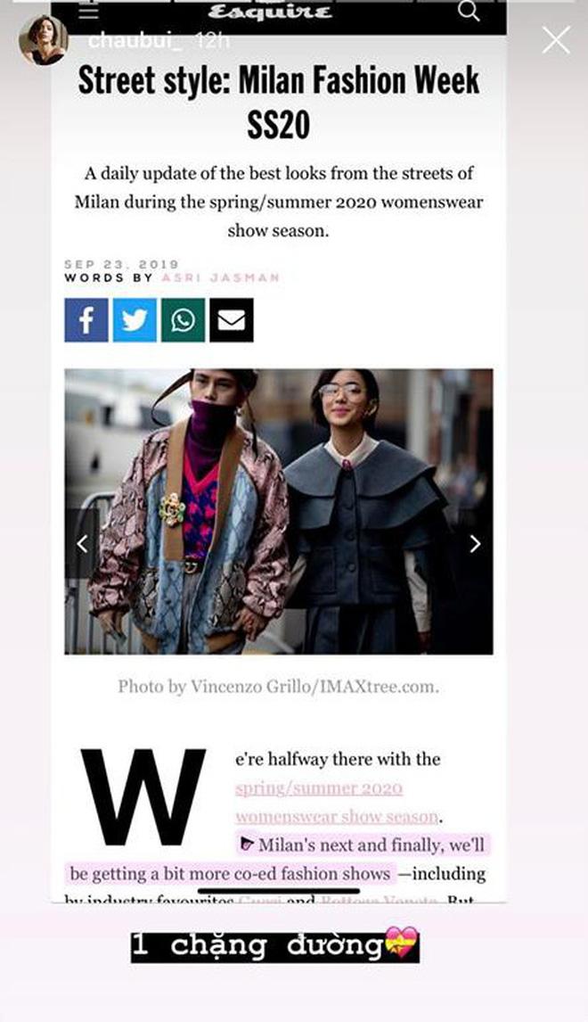 """Vừa lập kỷ lục ngồi front row loạt show """"khủng"""", Châu Bùi còn lọt top street style của 5 web thời trang đình đám - Ảnh 3."""
