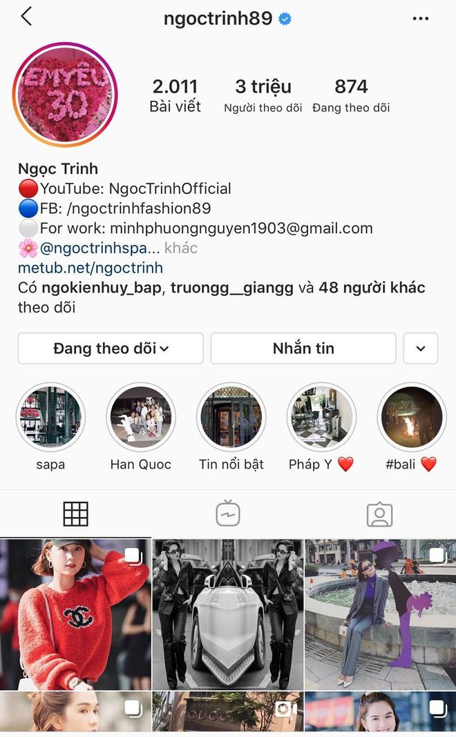 Ngọc Trinh bứt phá chóng mặt: Chính thức chạm ngưỡng 3 triệu follower, chỉ  sau Sơn Tùng và Chi Pu trên Instagram!