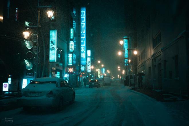 """Bộ ảnh phố Nhật về đêm đầy """"ảo diệu"""" đang gây sốt cộng đồng mạng, hóa ra mùa đông xứ hoa anh đào đẹp đến thế sao? - Ảnh 5."""