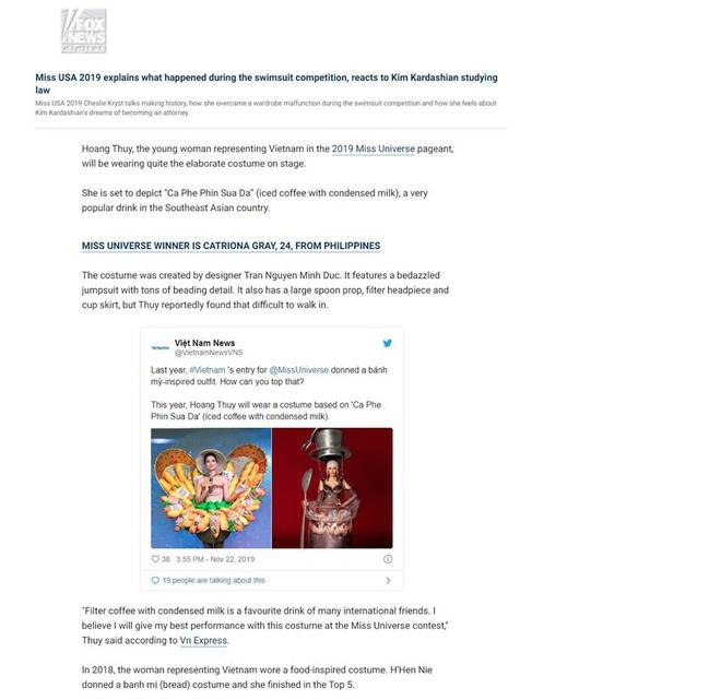 Trang phục bánh mì, cà phê sữa đá của H'Hen Niê và Hoàng Thùy bất ngờ gây sốt và xuất hiện trên báo Mỹ - Ảnh 4.