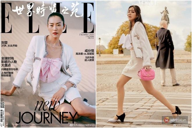 Khí chất thời trang đỉnh cao của Jennie: Chẳng hề thua kém siêu mẫu Liu Wen khi cùng diện đồ Chanel lên bìa tạp chí - Ảnh 1.