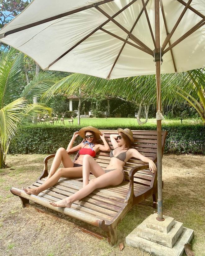 Kỳ Duyên – Minh Triệu tình nồng thắm đến độ một bộ bikini cũng chia nhau mặc chung? - Ảnh 2.