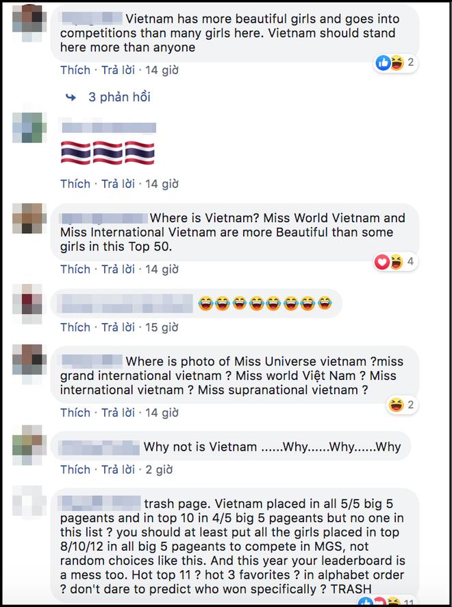 Fan phẫn nộ tấn công fanpage Global Beauties vì cả 5 đại diện Việt đều vắng mặt khó hiểu trong Top 50 Miss Grand Slam 2019 - Ảnh 2.