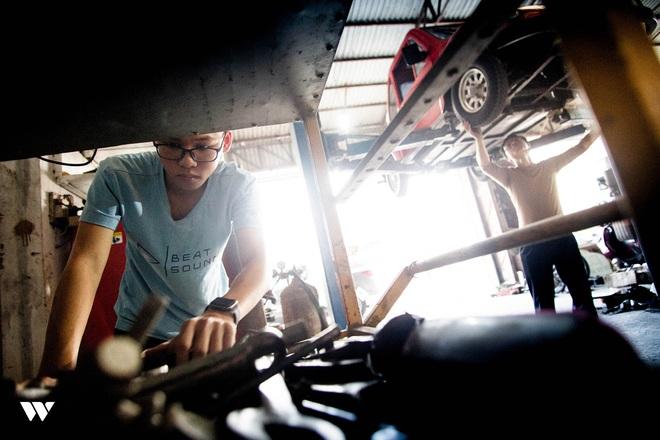 Ngô Việt Cường - Cậu học sinh lớp 12 trong vòng 2 năm lắp ráp thành công 2 ô tô chạy bằng năng lượng mặt trời - Ảnh 6.