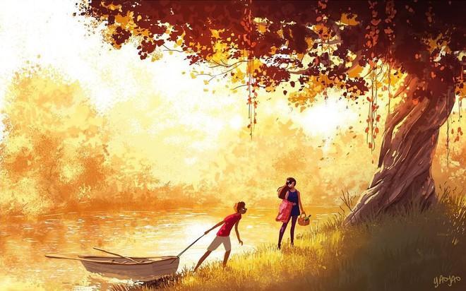 Bộ tranh Tình yêu có màu gì sẽ khiến bạn bất giác mỉm cười vì quá ngọt ngào - Ảnh 5.