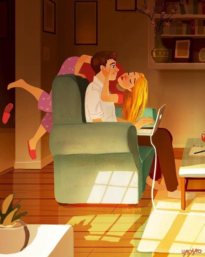Bộ tranh Tình yêu có màu gì sẽ khiến bạn bất giác mỉm cười vì quá ngọt ngào - Ảnh 9.