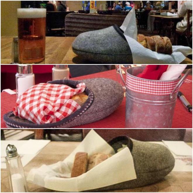 """Dở khóc dở cười với những cách trình bày món ăn siêu """"dị"""" của các nhà hàng nước ngoài, có nơi dùng cả giày để đựng thức ăn - Ảnh 4."""