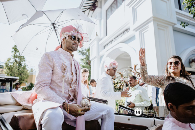 Chùm ảnh: Những khoảnh khắc ấn tượng nhất trong hôn lễ chính thức của cặp đôi tỷ phú Ấn Độ bên bờ biển Phú Quốc - Ảnh 2.