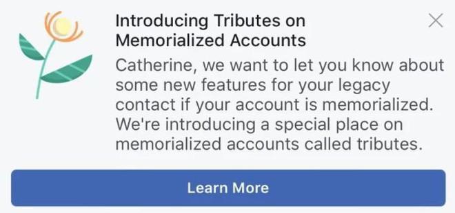 Ý tưởng khó ngửi của Facebook: Biến trang cá nhân thành ngôi mộ ảo để đẹp mặt người đã khuất? - Ảnh 1.