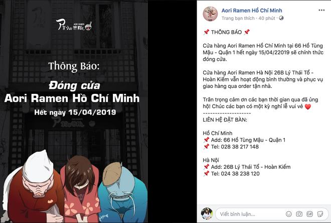 Sau khi công ty tuyên bố cắt đứt với Seungri, cơ sở Aori Ramen ở Sài Gòn sẽ chính thức đóng cửa sau 2 ngày nữa - Ảnh 1.