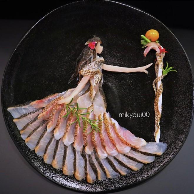 Nghệ thuật sashimi Nhật Bản độc đáo đến mức nhìn thoáng qua không ai nghĩ tác phẩm này được làm từ cá - Ảnh 2.