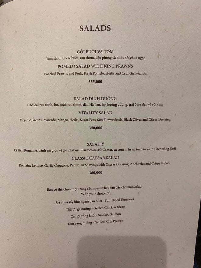 """Menu """"hú hồn"""" của nhà hàng tại Landmark 81: bát phở """"chọc trời"""" có giá tận 920k - Ảnh 3."""