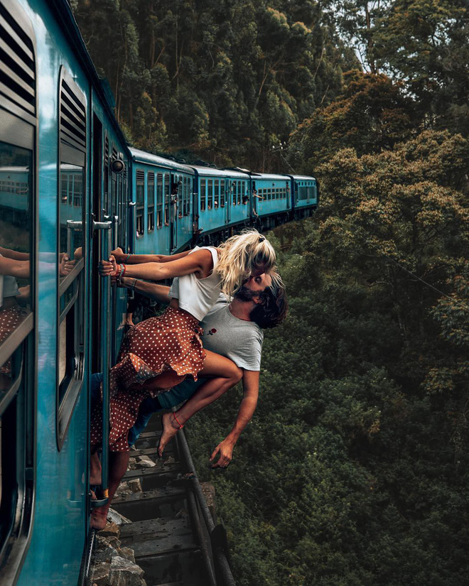 Tạo dáng nguy hiểm khi chụp ảnh du lịch, nhiều cặp đôi travel blogger nổi tiếng bị dân mạng ném đá kịch liệt - Ảnh 1.