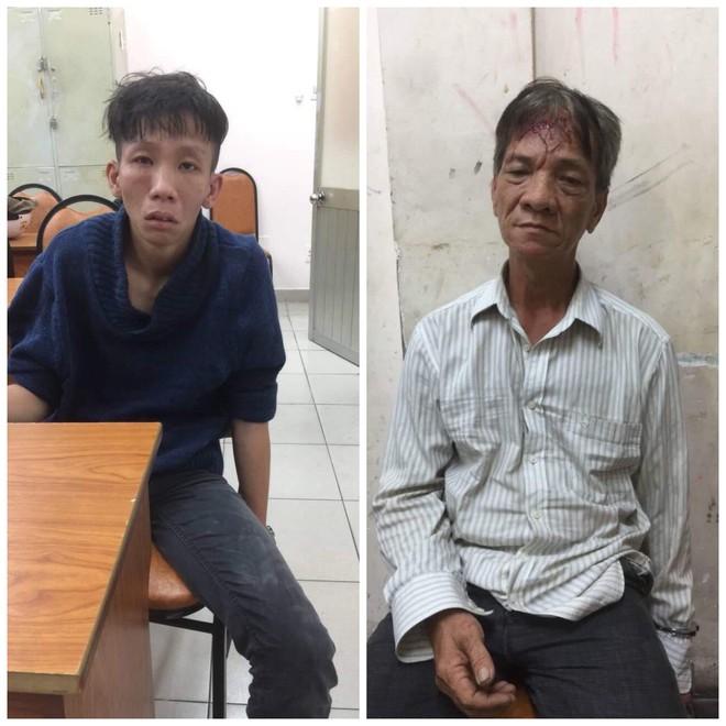 Hai kẻ cướp ném mũ bảo hiểm, dùng dao đâm trinh sát đặc nhiệm ở Sài Gòn - Ảnh 2.