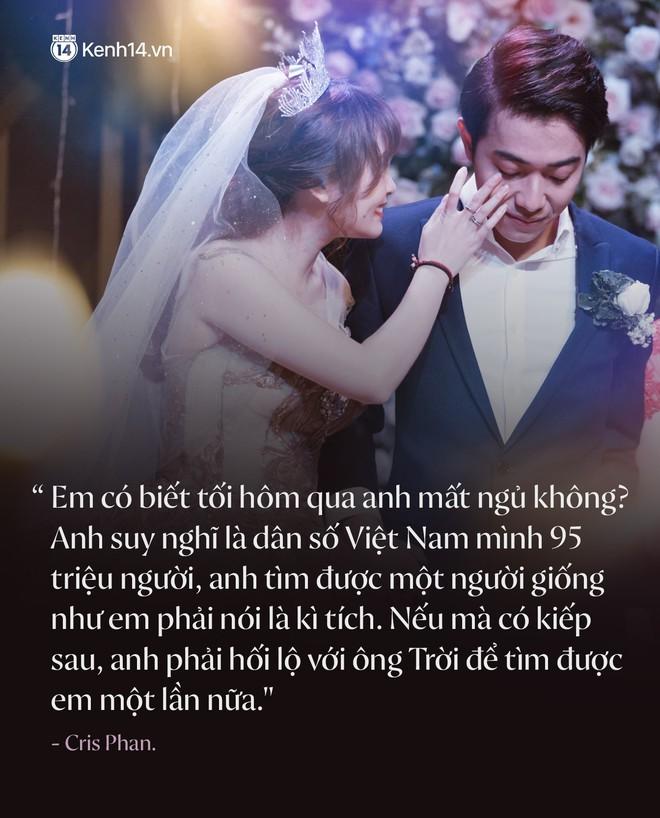 Cưới được vợ xinh, Cris Phan còn khiến dân tình ăn bánh gato đã đời với câu nói: Việt Nam 95 triệu người, anh tìm được em là một kỳ tích - Ảnh 1.