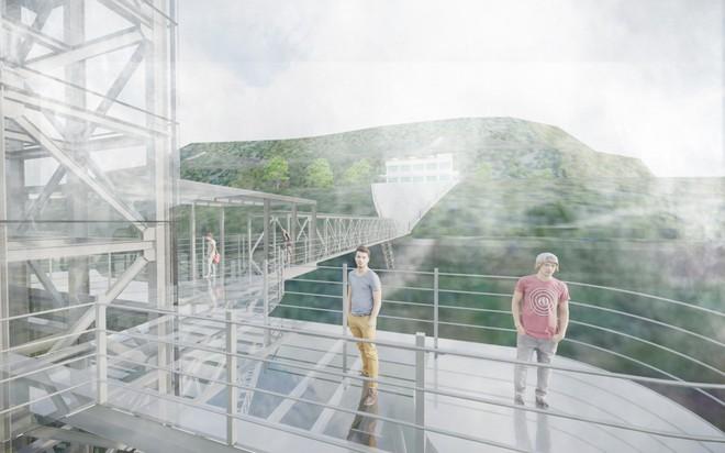 Hot: Cầu kính cao 500m treo vách núi gần Sa Pa có tên cầu kính Rồng Mây sẽ mở bán vé vào tháng 7 này - Ảnh 2.