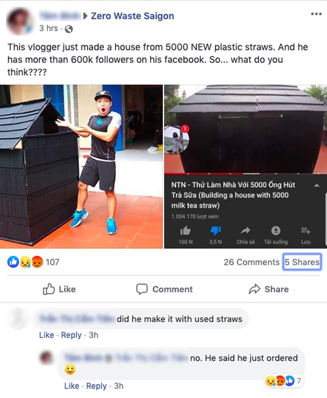 """Vlogger đặt mua 5.000 ống hút để làm """"nhà khổng lồ"""" câu view, cộng đồng bức xúc: """"Số lượng nhựa này sẽ đi về đâu?"""" - Ảnh 6."""
