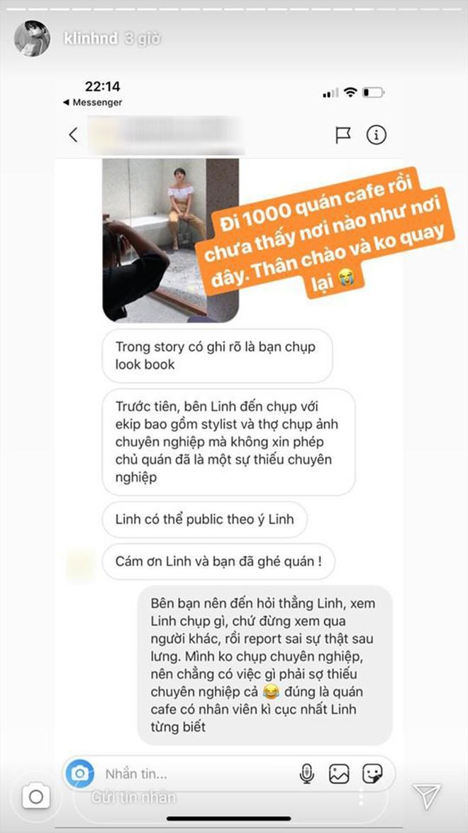 Khánh Linh bị chủ quán cà phê phàn nàn sau lưng vì đến quán chụp ảnh