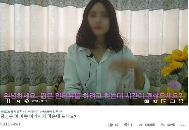 YouTube tràn lan clip tự giới thiệu của cô dâu Việt muốn lấy chồng Hàn, chấp nhận bị trưng bày như hàng hóa để có được cơ hội đổi đời - Ảnh 2.