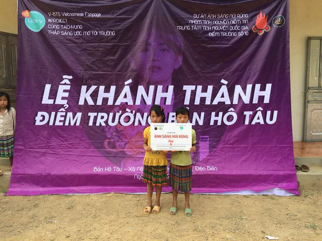 Fan Việt khiến bạn bè quốc tế chú ý khi gây quỹ 230 triệu xây hẳn trường học ở Điện Biên vì idol toàn cầu V (BTS) - Ảnh 4.