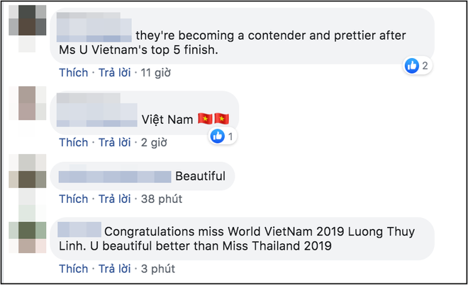 Tân Hoa hậu Lương Thùy Linh được dân mạng quốc tế hết lời khen ngợi nhan sắc, nhận xét xinh hơn cả Miss Thái Lan - Ảnh 2.