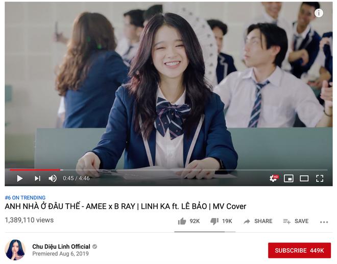 Bất thình lình xuất hiện trong top trending, Linh Ka làm MV cover come back cực mạnh vượt qua Chi Pu - Ảnh 5.
