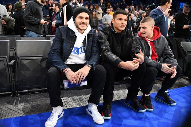 Dàn sao Paris Saint-Germain hội tụ cùng những huyền thoại bóng rổ thế giới trong trận đấu NBA Paris Match 2020 - Ảnh 7.