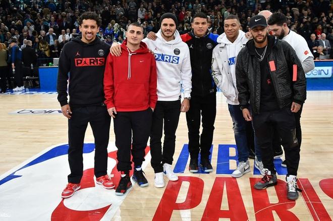 Dàn sao Paris Saint-Germain hội tụ cùng những huyền thoại bóng rổ thế giới trong trận đấu NBA Paris Match 2020 - Ảnh 10.