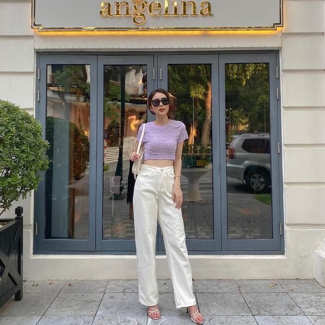 Tậu quần jeans trắng là có style sang xịn trendy, phối đồ đơn giản cỡ nào trông cũng hay ho - ảnh 13