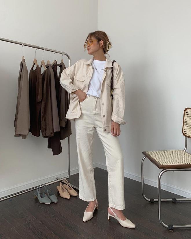 Tậu quần jeans trắng là có style sang xịn trendy, phối đồ đơn giản cỡ nào trông cũng hay ho - ảnh 17